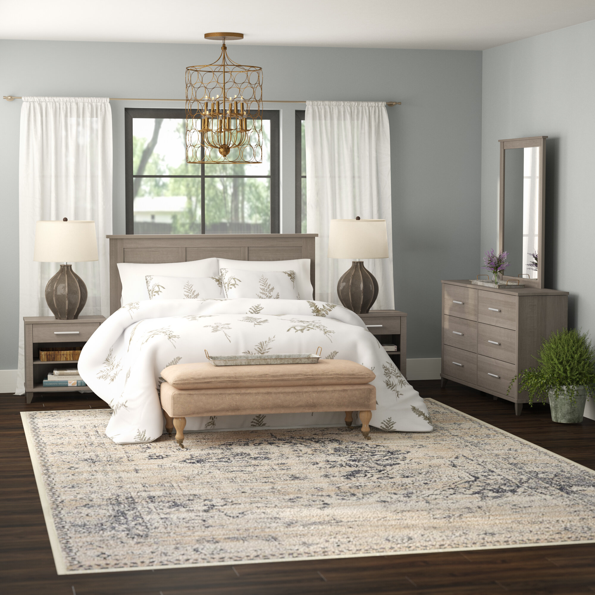 Laurel Foundry Modern Farmhouse Valencia 5 Piece Bedroom Set Reviews Wayfair