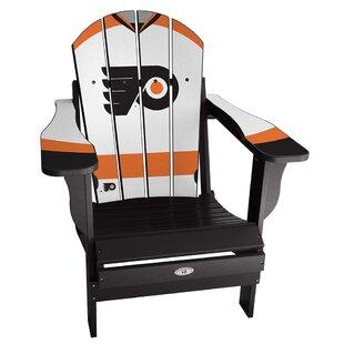 NHL Jersey Resin Folding Adirondack Chair