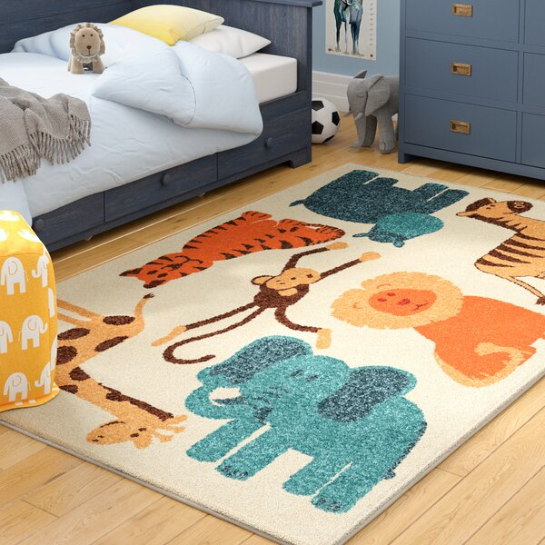 Bedford Beige Area Rug for Kids Bedroom