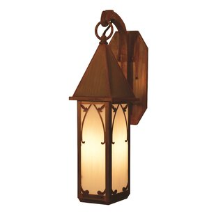Best Saint George 1-Light Outdoor Wall Lantern By Arroyo Craftsman