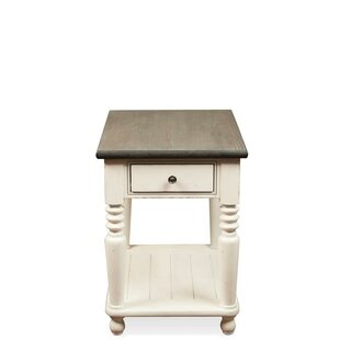 Read Reviews Calila End Table with Storage By Birch Lane™