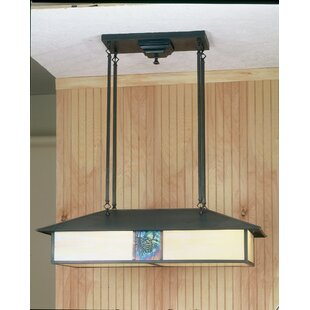 Meyda Tiffany Winter Pine 4-Light Pool Table Lights Pendant
