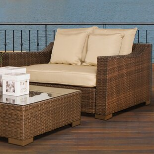 Jermal Wicker Loveseat with Cushion
