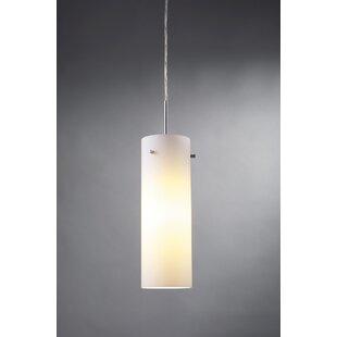Titan 1-Light Cylinder Pendant by Bruck Lighting