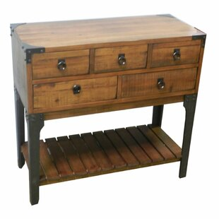 Loon Peak Chelsea Chic Wooden 5 Drawer Console Table