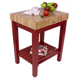 American Heritage Prep Table with Butcher Block Top