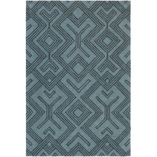 Litwin Hand-Tufted Light Blue/Navy Area Rug byUnion Rustic