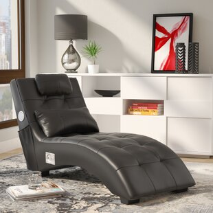 Khronos Leather Chaise Lounge by Latitude Run