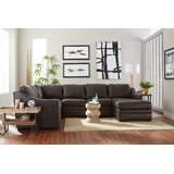 105 Genuine Leather Left Hand Facing Reclining Corner Sectional by Westland and Birch