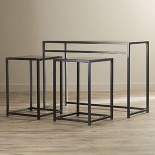 Savings Burke Glass 3 Piece Console Table Set ByEbern Designs