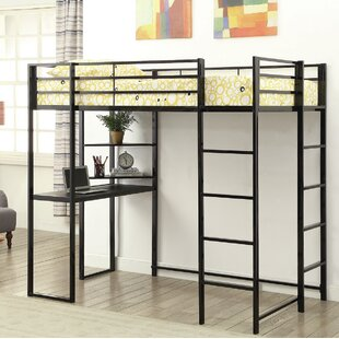 Allemans Twin Loft Bed with Drawers and Bookcase