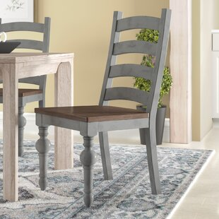 Compare prices Sandbach Ladder Solid Wood Dining Chair (Set of 2) by Three Posts Reviews (2019) & Buyer's Guide