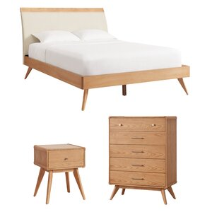 Leominster Platform Configurable Wood Bedroom Set