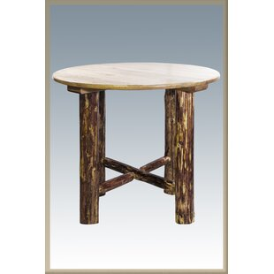 Tustin Solid Wood Pub Table Loon Peak