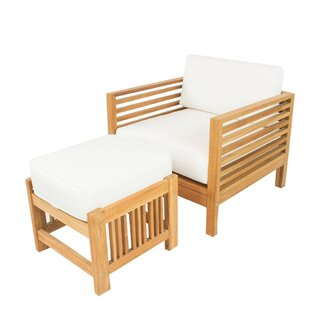 Crigler Teak Patio Chair with Sunbrella Cushions