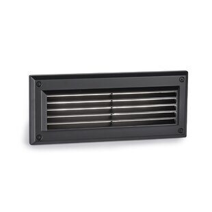 Kourtney Louvered LED Brick Outdoor Flush Mount by Orren Ellis 2019 Sale