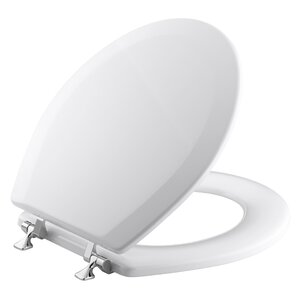 Triko Round-Front Toilet Seat with Polished Chrome Hinges