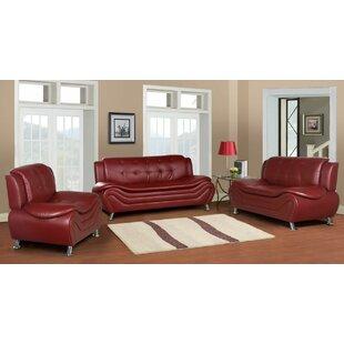 Orren Ellis Machelle 3 Piece Living Room Set
