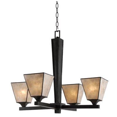 Barabo 4 light shaded chandelier