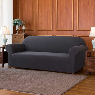 Jacquard High Stretch Box Cushion Sofa Slipcover by Winston Porter