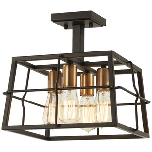 Croyle 4-Light Semi Flush Moun..