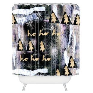 Clearance Borman A White Christmas Shower Curtain ByBrayden Studio