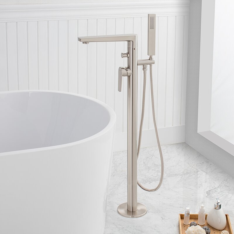 Maykke Adalbert Single Handle Floor Mounted Freestanding Tub Filler ...