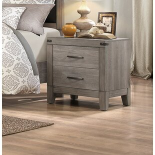 Millwood Pines Embree 2 Drawer Nightstand