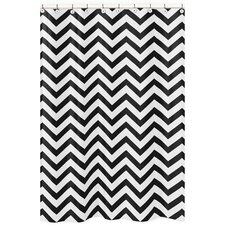 Chevron Microfiber Shower CurtainModern Shower Curtains   AllModern. Black And Cream Shower Curtain. Home Design Ideas