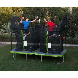 TruJump Battle Ball 12' Rectangle Trampoline with Safety Enclosure