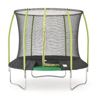 Challenger 8' Round Backyard Trampoline With Safety Enclosure By TP Toys