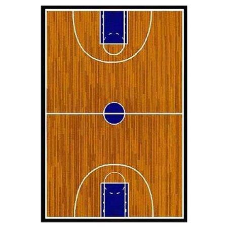 Perfect Fun Rugs Supreme Basketball Court Sports Brown Area Rug U0026 Reviews   Wayfair