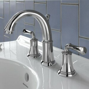 Portsmouth Widespread Double Handle Bathroom Faucet with Drain Assembly
