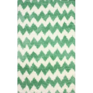 Find a Block Island Green/While Area Rug By nuLOOM