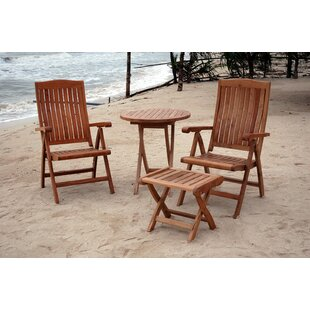 Rosecliff Heights Farnam 4 Piece Teak Dining Set