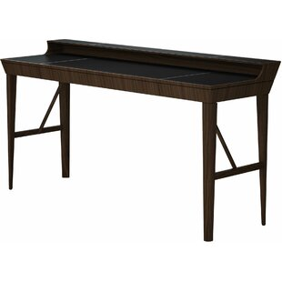 Hampton Solid Wood Writing Desk by Modloft Black