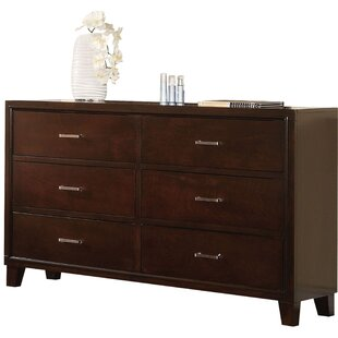 Altha Wooden 6 Drawer Standard Dresser