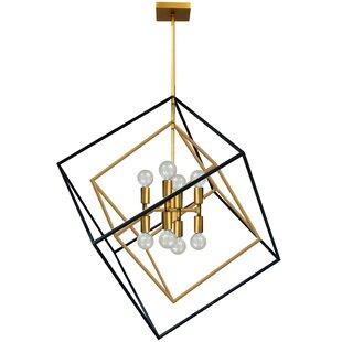 Brayden Studio Elizalde 8-Light Geometric Chandelier