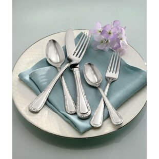 Venetian Lace 5 Piece 18/10 Stainless steel Flatware Set, Service for 1
