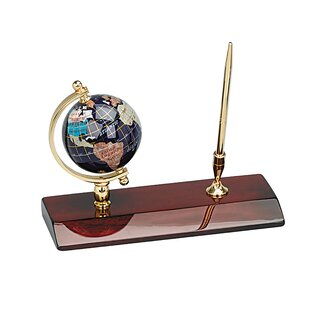 Heim Concept Executive Gemstone Globe Desktop Pen Holder
