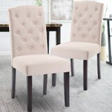 Plourde Upholstered Dining Chair (Set of 2) by Charlton Home®