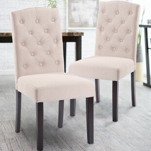 Plourde Upholstered Dining Chair Set of 2