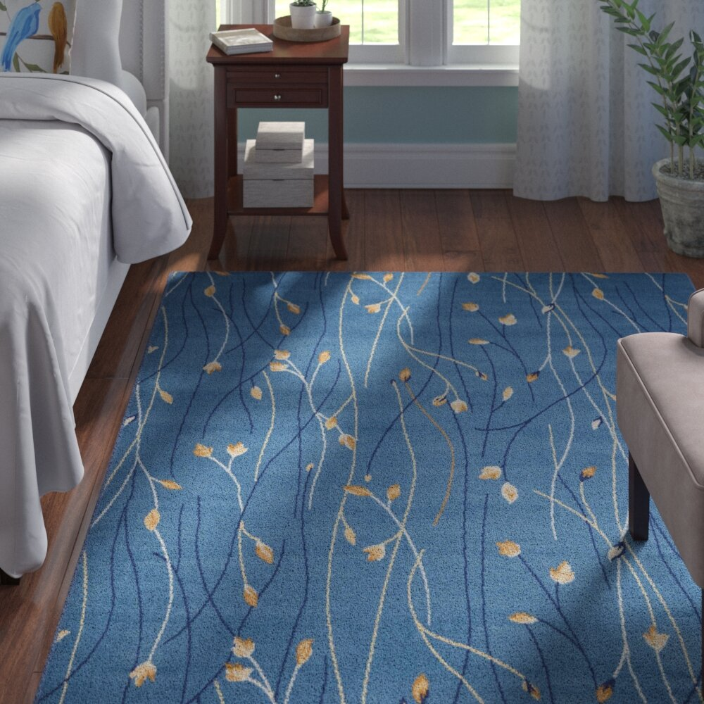 Andover Mills Nash Light Blue Area Rug & Reviews | Wayfair