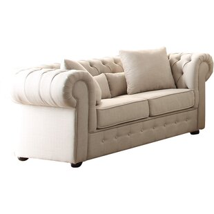 Darby Home Co Pearlie Chesterfield Loveseat