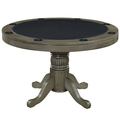"""48"""" Round Poker Table RAM Game Room Color: Slate"""