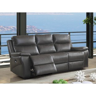 Faulks Leather Reclining Sofa