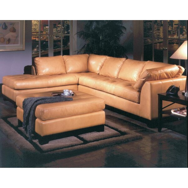 Espasio Leather Sectional  sc 1 st  Wayfair : real leather sectional - Sectionals, Sofas & Couches