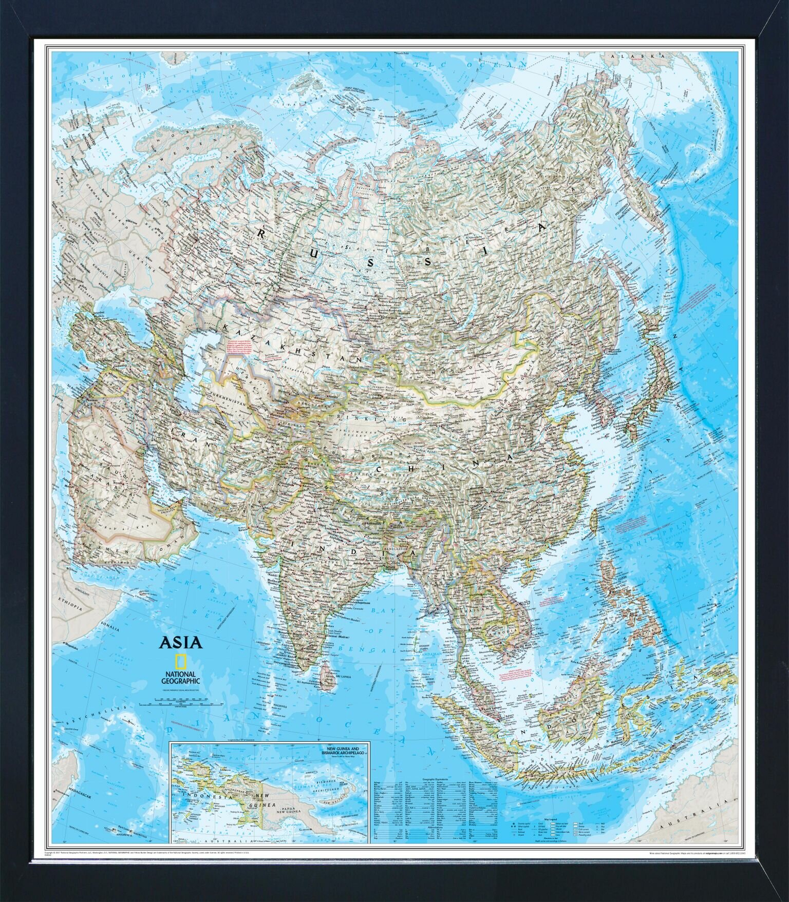 Breakwater Bay Cadnite Magnetic Travel Map National Geographic Asia Classic Wayfair