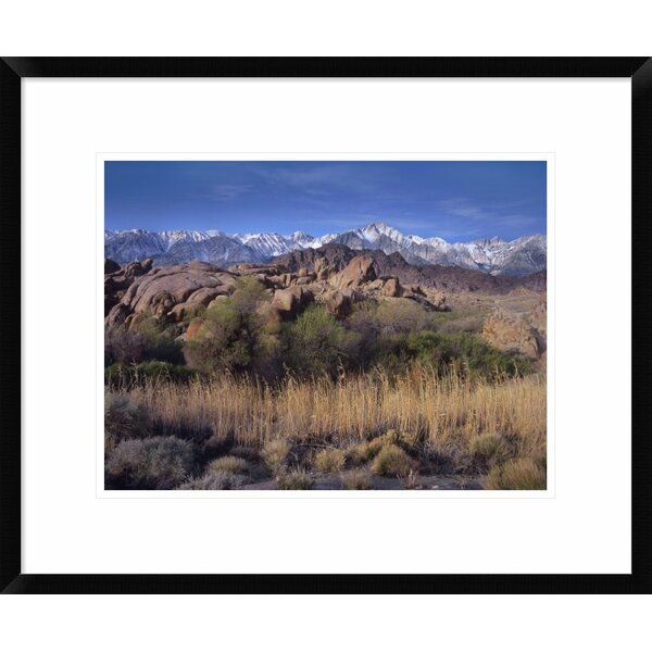 Global Gallery Mount Whitney And The Sierra Nevada From Alabama Hills California Framed Photographic Print Wayfair