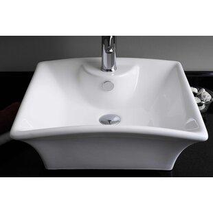 Online Reviews Ceramic Rectangular Vessel Bathroom Sink with Overflow ByRoyal Purple Bath Kitchen